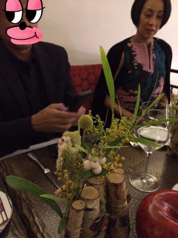 Parisのレストランで